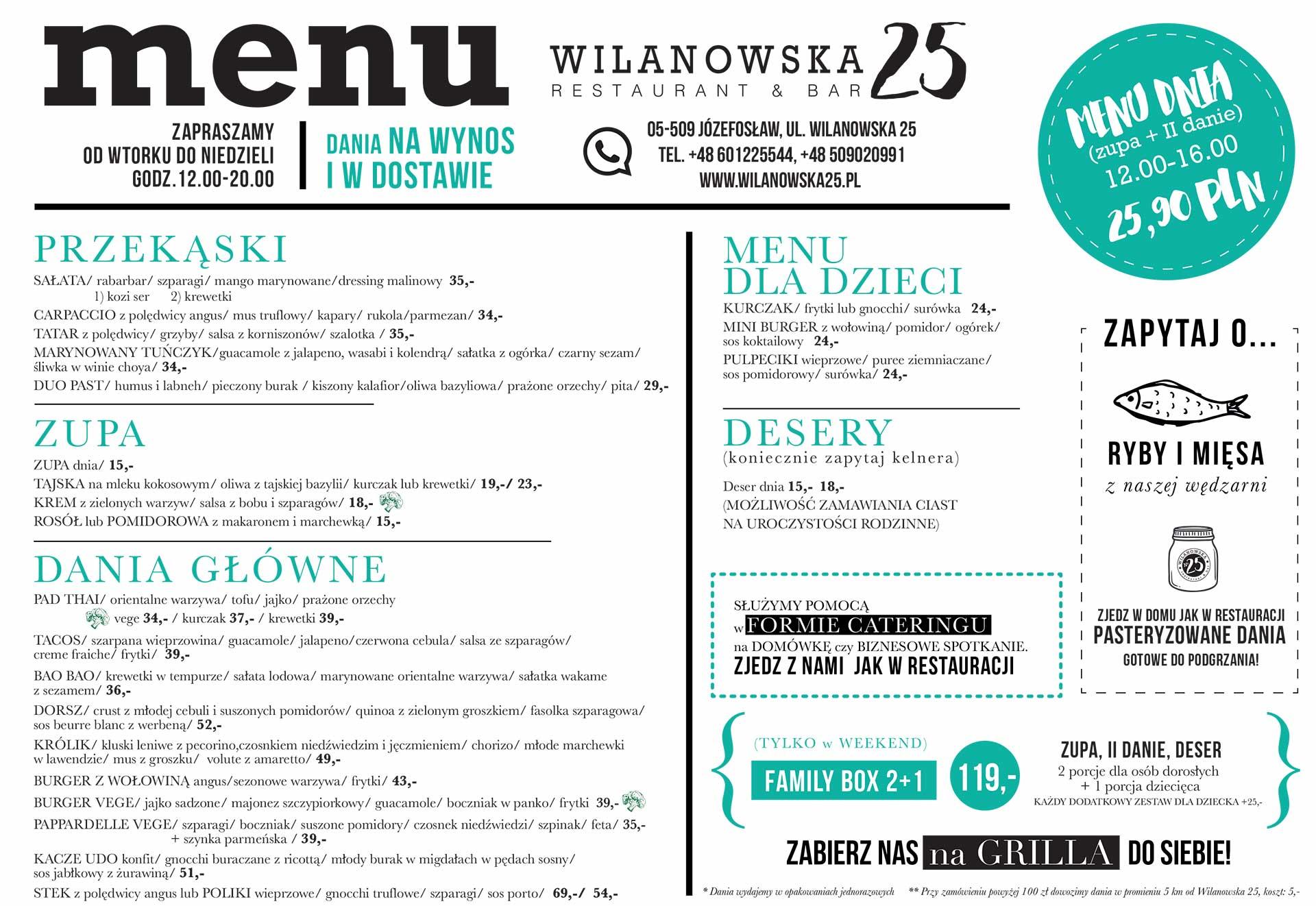 Wilanowska25 menu 2021.04